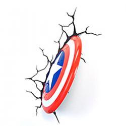 Imagem do produto Abajur Super Herói  3D - Escudo capitao america