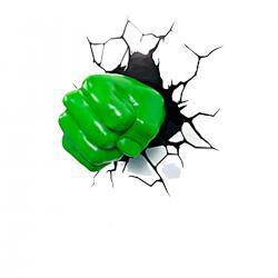 Imagem do produto Abajur Super Herói  3D - Mão do Hulk