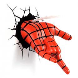 Imagem do produto Abajur Super Herói  3D - Mao homem aranha