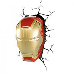 Imagem do produto Abajur Super Herói  3D - mascara homem de ferro