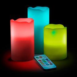 Imagem do produto Abajur em formato de  Velas LED - Com Controle Remoto