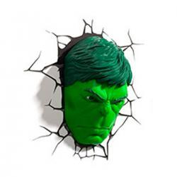 Imagem do produto Abajur Super Herói  3D - Cara do Hulk
