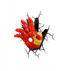 Imagem do produto Abajur Super Herói  3D - Mao homem de ferro