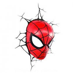 Imagem do produto Abajur Super Herói  3D - Mascara Homem Aranha
