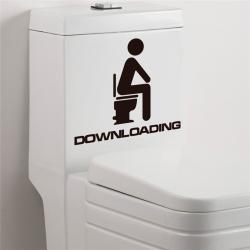 Imagem do produto Adesivo de decoração para banheiro - Downloading