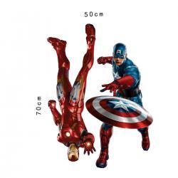 Imagem do produto Adesivo de parede Homem de ferro e Capitão América