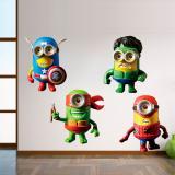 Adesivo de parede Minions super herois