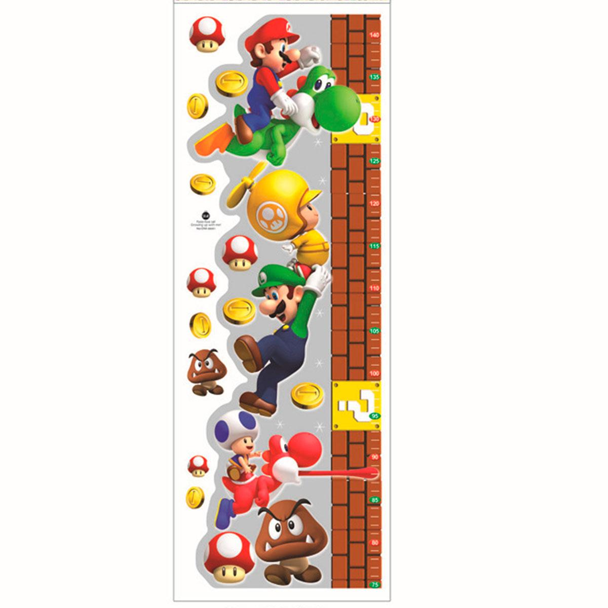 Adesivo Emagrecedor Funciona ~ NerdMania Home& Office Diversos Adesivo de parede Régua de crescimento Super Mario