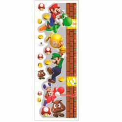 Imagem do produto Adesivo de parede Régua de crescimento - Super Mario