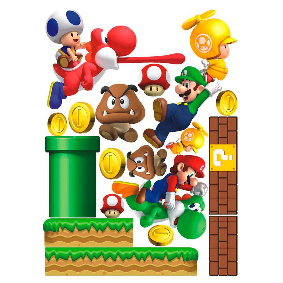 Adesivo Emagrecedor Funciona ~ NerdMania Marcas Super Mario Adesivo de Parede Super Mario SUPER MARIO