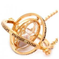 Imagem do produto Colar Vira Tempo Hermione - Harry Potter - Dourado