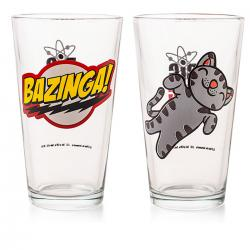 Imagem do produto Copos Bazinga e Soft Kitty - The Big Bang Theory